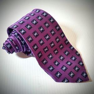"""Jos A Bank signature purple neck tie 62"""" XL"""